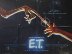 Original vintage cinema poster by John Alvin for the Steven Spielberg film, ET