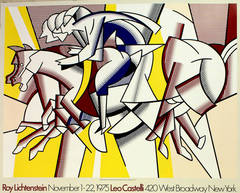 Original vintage poster: Roy Lichtenstein at the Leo Castelli Gallery, New York