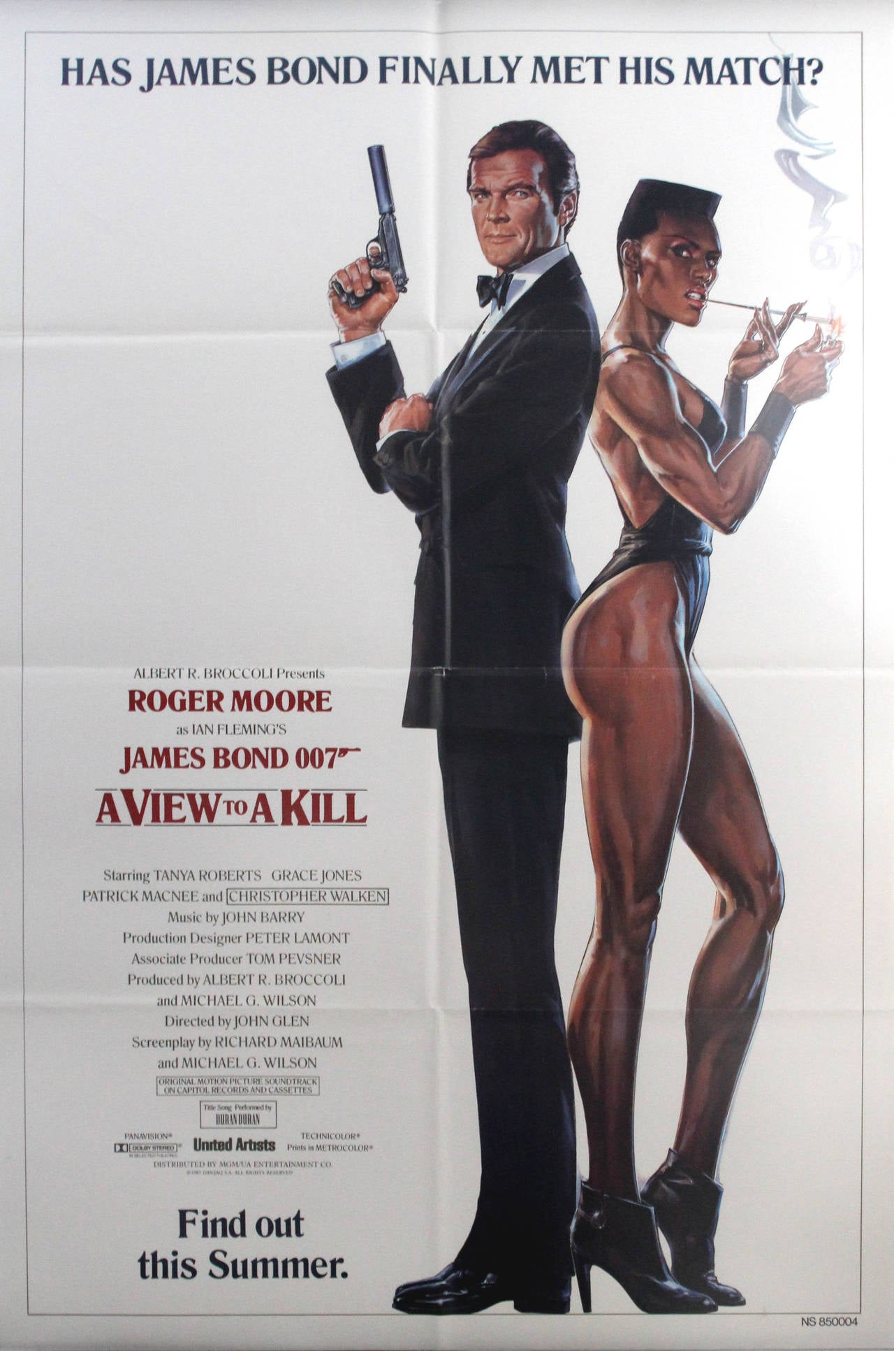 Original Vintage 007 James Bond Movie Poster - A View To A Kill - Roger Moore