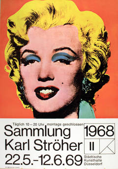 Original vintage Karl Stroher exhibition poster - Marilyn Monroe by Andy Warhol