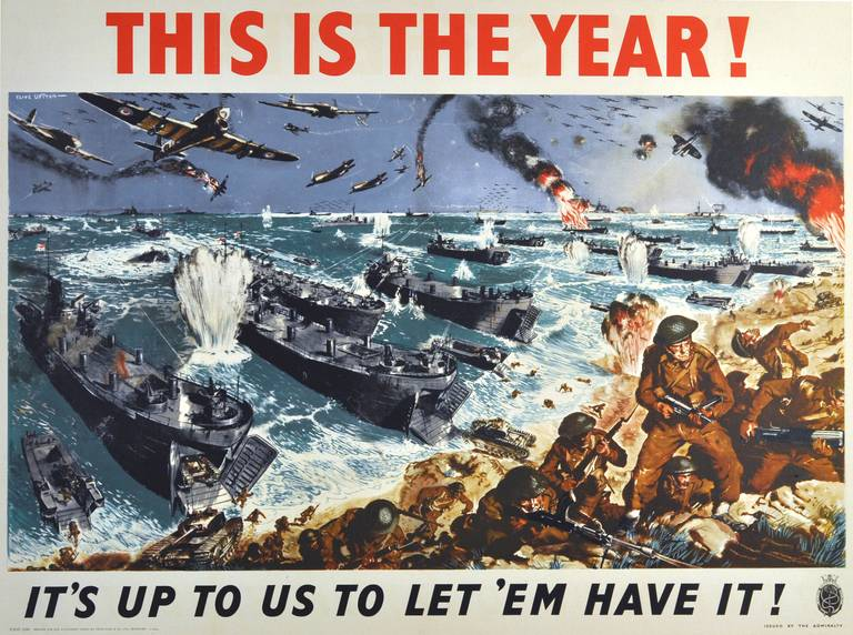 Clive Uptton Original Vintage Ww2 Poster This Is The