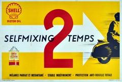 Original vintage advertising poster for Shell Motor Oil