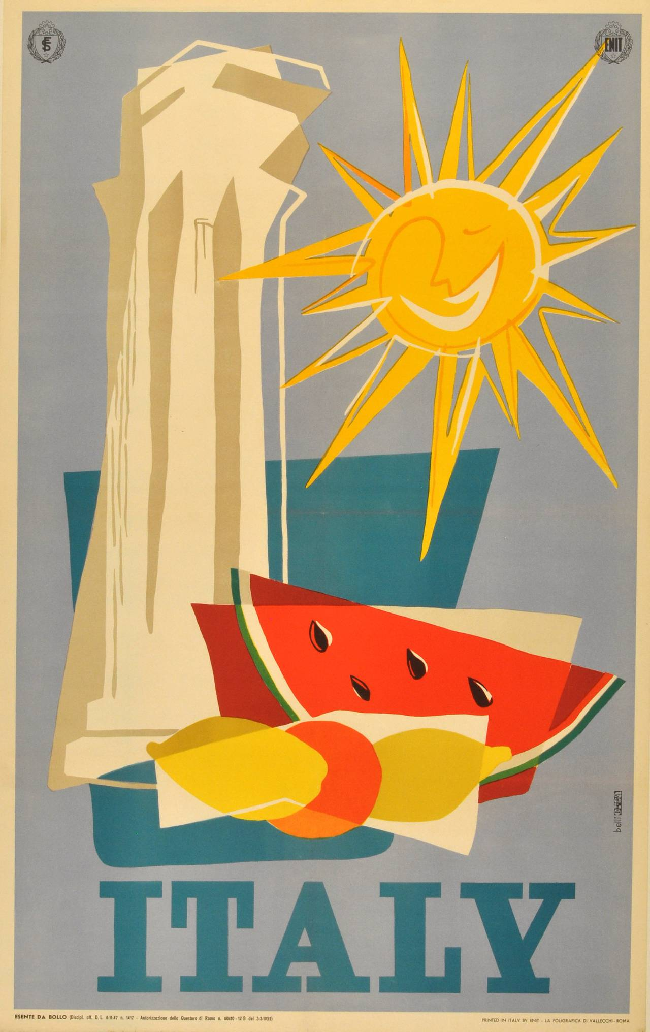 Vintage travel posters italy