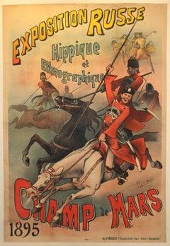 Original Antique Russian Exhibition Advertising Poster: Exposition Russe 1895