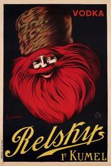 Original Iconic Advertising Poster - Vodka Relskys 1º Kumel - Leonetto Cappiello
