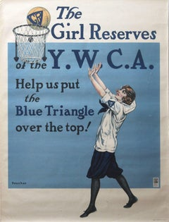 Rare Original WW1 Poster: The Girl Reserves Of The YWCA United War Work Campaign