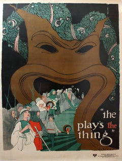 Original Vintage 1915 Theatre Poster For The YWCA Entitled The Play's The Thing