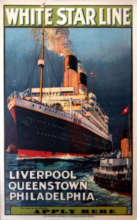 Montague Birrell Black Original 1930s White Star Line