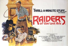 Original Movie Poster - Raiders of the Lost Ark - Harrison Ford As Indiana Jones