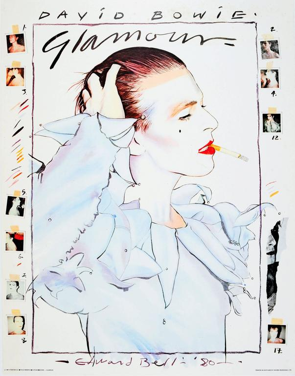 Edward Bell - Original Vintage 1981 Poster - David Bowie Glamour - By Edward Bell 1