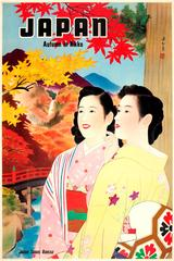 Original Vintage 1930s Travel Advertising Poster For Japan - Autumn In Nikko