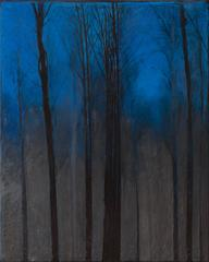 Night Wood, Original, Oil on Canvas, Landscape, Signed, Exemplary Art Reviews