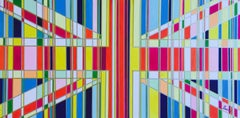 Consumer Society, Acrylic Paint on Card, Mixed Media, Flag Series, Union Jack,