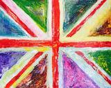 Union Colour, Original, Acrylic on Canvas, Mixed Media, Flag. Signed