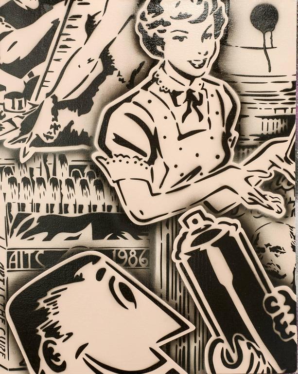 Vintage Art Ad (Cappuccino / Black), variant 2
