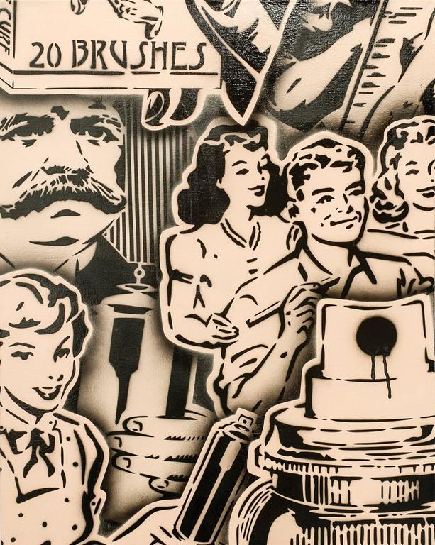 Vintage Art Ad (Cappuccino / Black), variant 3