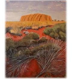 Uluru at Sunset 1, Original, Landscape, Oil On Canvas, Signed. Good Art Reviews