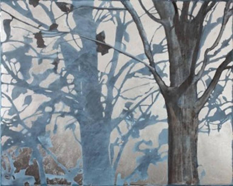 Lydia Bauman Tree And Shadow Original Oil On Canvas Landscape