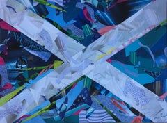 Pulling Together, Original, Collage on Card, Recycled Magazines. Saltire. Signed