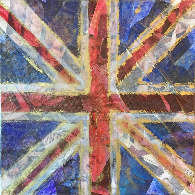 Celebrity Culture - Yesterday's News, Original, Acrylic on Canvas, Collage,  - Mixed Media Art by Tracey Thornton