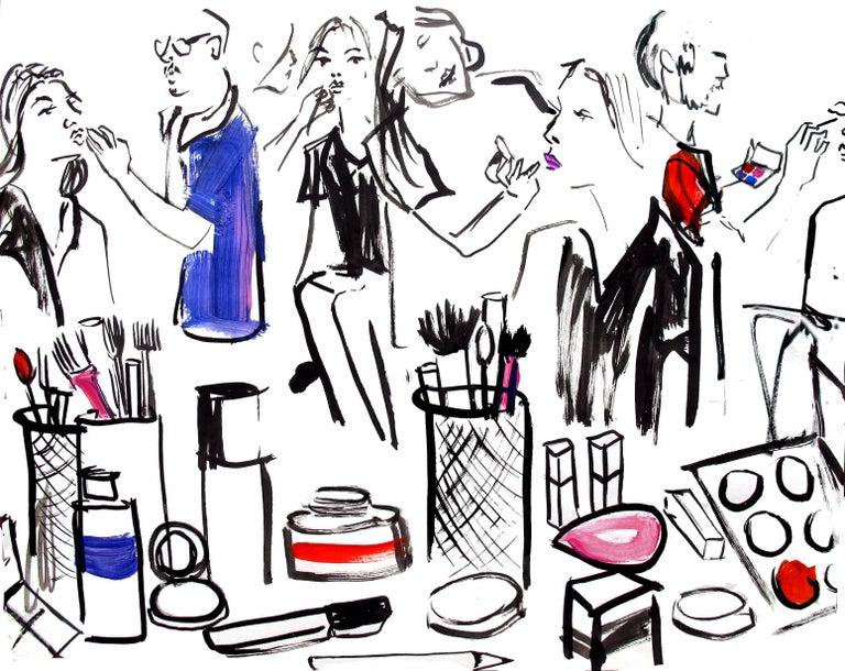 Laura Gulshani Figurative Art - Fashion Week Backstage