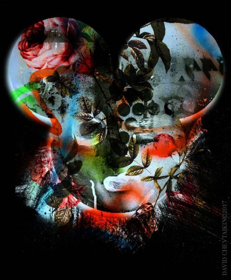 David Chevtaikin Abstract Print - Mickey Girl – Pop Graffiti / Color