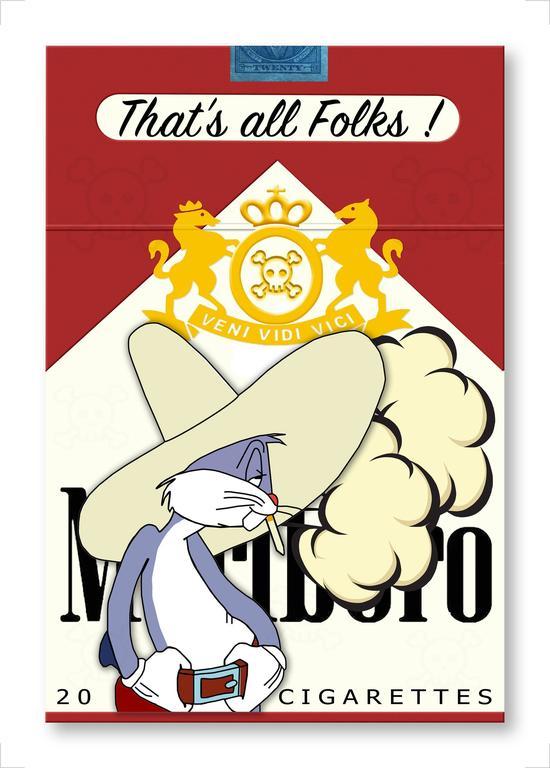 "Jana Nicole Print - THAT""S ALL FOLKS! Bugs Bunny Marlboro Cigarettes Limited Edition of 100"