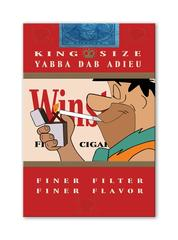 YABBA DAB ADIEU 9 Limited Edition of 100, Winstons Cigarettes, hand embellished.