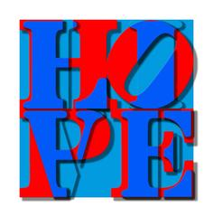 LIVE IN HOPE Original Acyrlic, multilayer, typography, Personally Signed