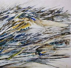 Quartz 5, Original, Acrylic Paint on Paper, Arid, Nature, Texture, Signed