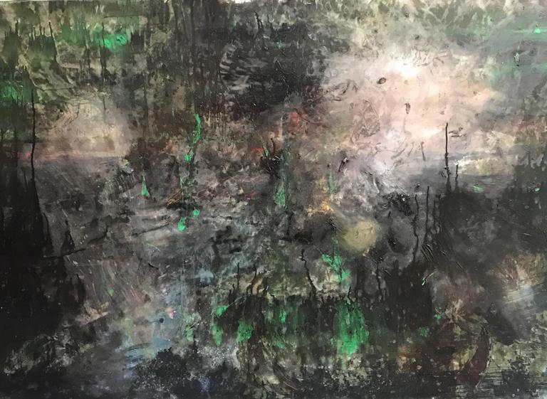 Denis Volpiana Abstract Painting - City