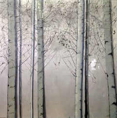 Silver Birches, Original, Oil paint on Canvas, Landscape, Exemplary Art Review