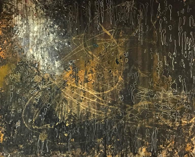 Denis Volpiana Abstract Painting - L'ABBRACCIO