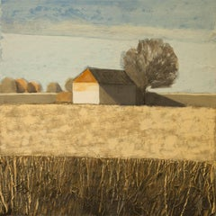 House in Pale Field (Cotswolds) Original Brilliant Art Reviews Collectable