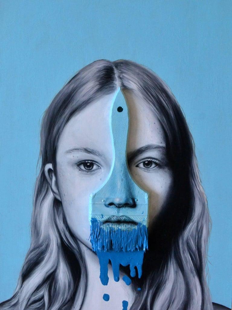 Blaine Blue - Painting by Alex Achaval
