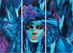 BLUE MARILYN TRIPTYCH. Limited Edition Print.