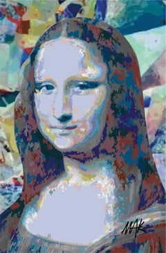 Fake Mona Vinci. Limited Edition Print.
