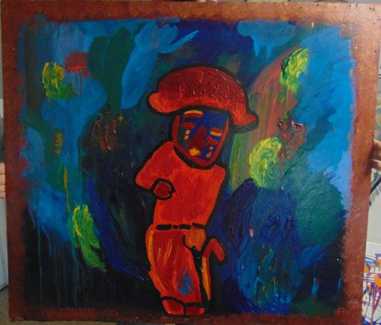 Alisa Rawls Figurative Painting - El Hombre Tihuano. Original. SOLD