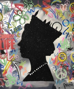 Graffiti Queen. Original. Inspired by Sex Pistols WhamLondon Mixed Media, Signed