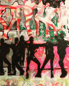 Studio 54 Series 2. Original. Acrylic on Canvas, Nightclub, Andy Warhol, Signed.