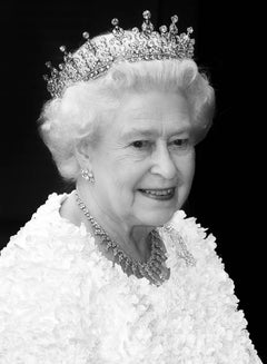 Tiara Queen, Original, Black and White photograph diamond tiara and necklace.