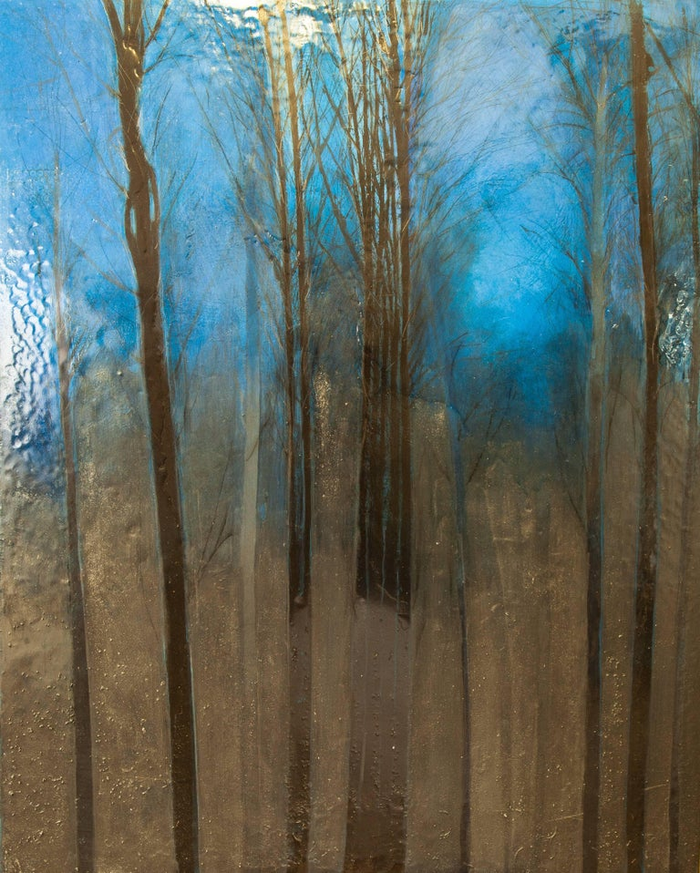 Night Wood, Original, Oil on Canvas, Landscape, Signed, Exemplary Art Reviews For Sale 1