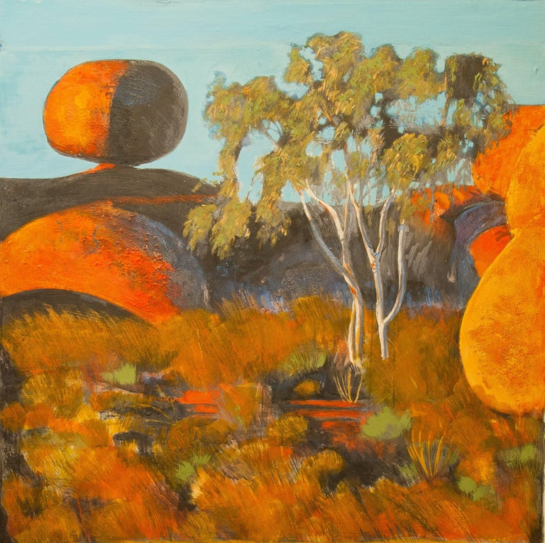 Bauman is a landscape painter, whose interest lies not in narrative, but in form defined by light. She is inspired by motifs as contrasting as the cultivated landscapes of the Mediterranean and the deserts of north Africa and Australia.  Her images,