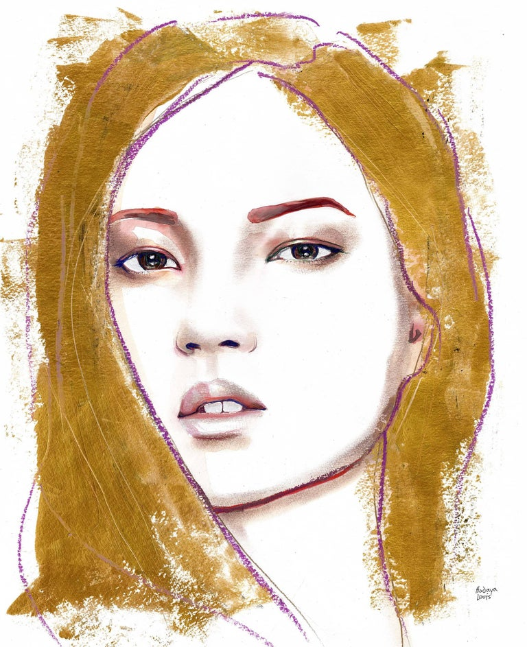 Hodaya Louis Portrait Print - GOLD HAIR