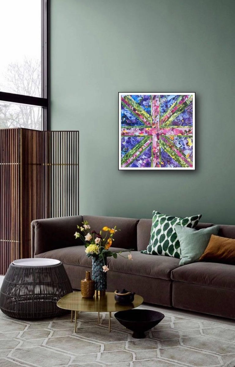 tracey thornton flower power collage canvas interiors craft