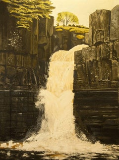 High Force ( County Durham ) Original, Oil on Canvas, Exemplary Art Reviews