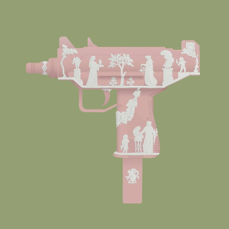 Florence Pink Uzi. Limited Edition Print.