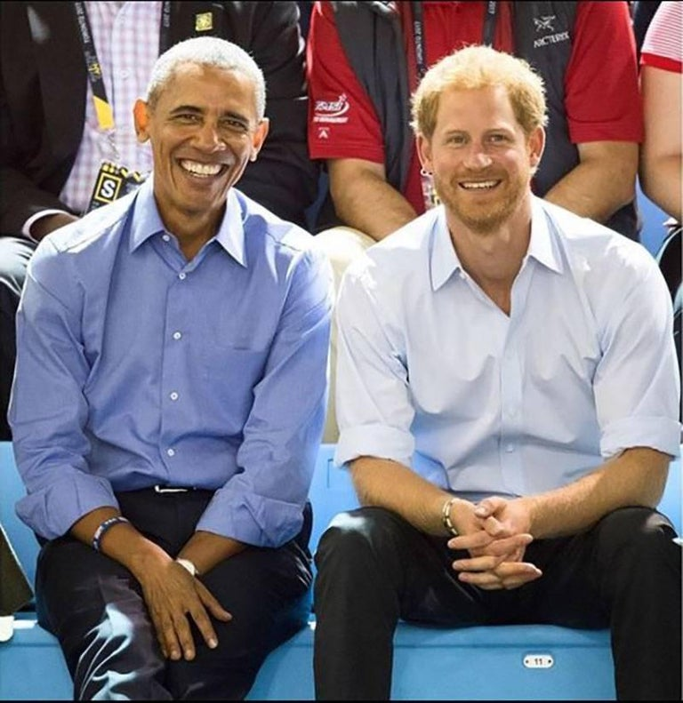Barack Obama and Prince Harry. Invictus Games 2017 Original Personally signed.