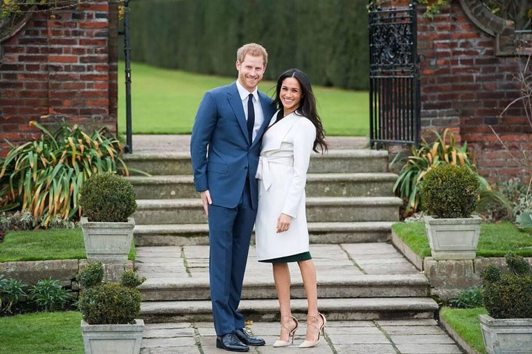 Samir Hussein Color Photograph - Meghan and Harry Engagement Announce, Famous Original.Investment History Signed