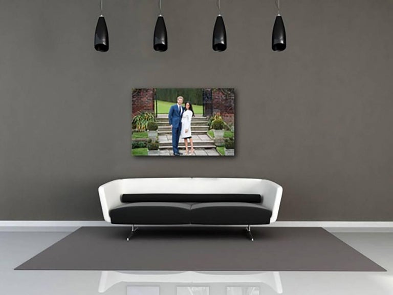Meghan and Harry Engagement Announce, Famous Original.Investment History Signed - Photograph by Samir Hussein